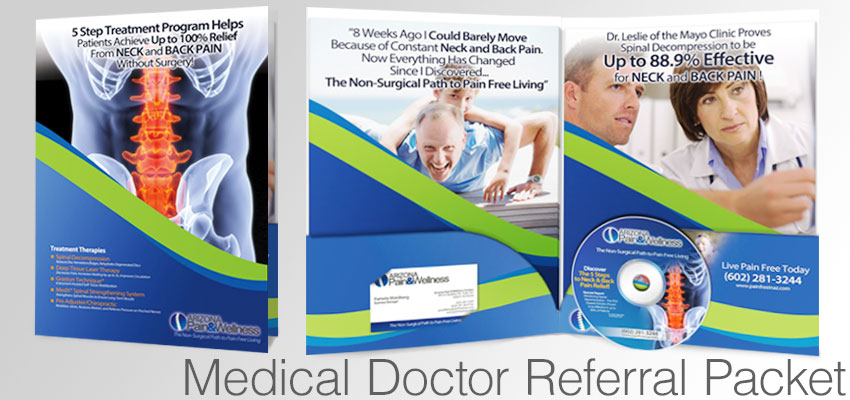 Medical Doctor Referral Packet for spinal decompression, chiropractic, and back pain relief